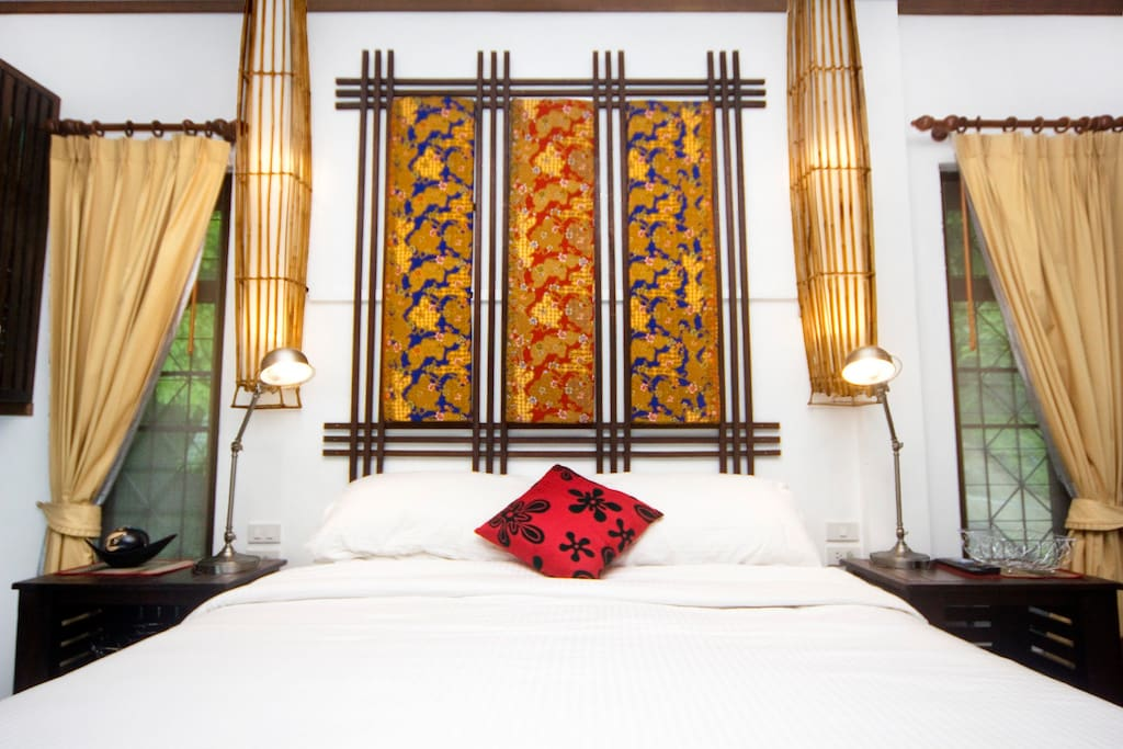ultra comfortable bed.  this is what keeps our guests feeling pampered.