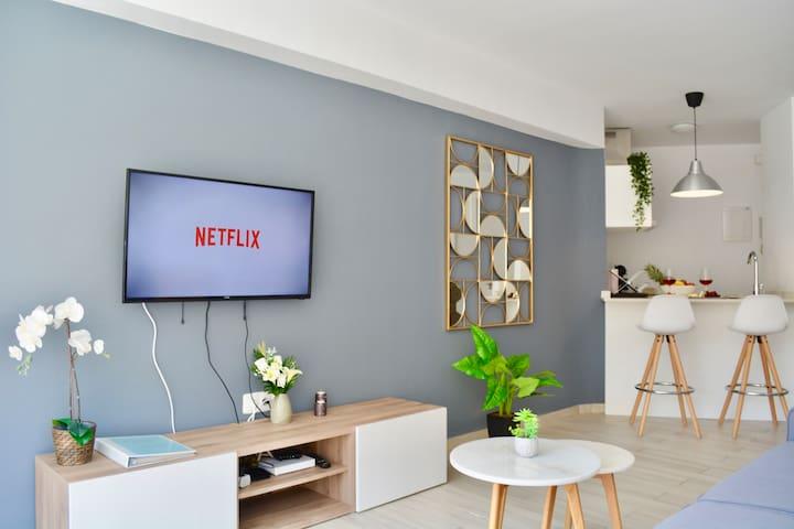 Fast Fibre WIFI & TV de 40'' //NETFLIX//