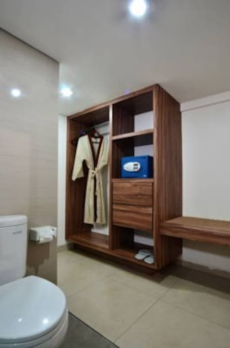 Bathroom with Safety box