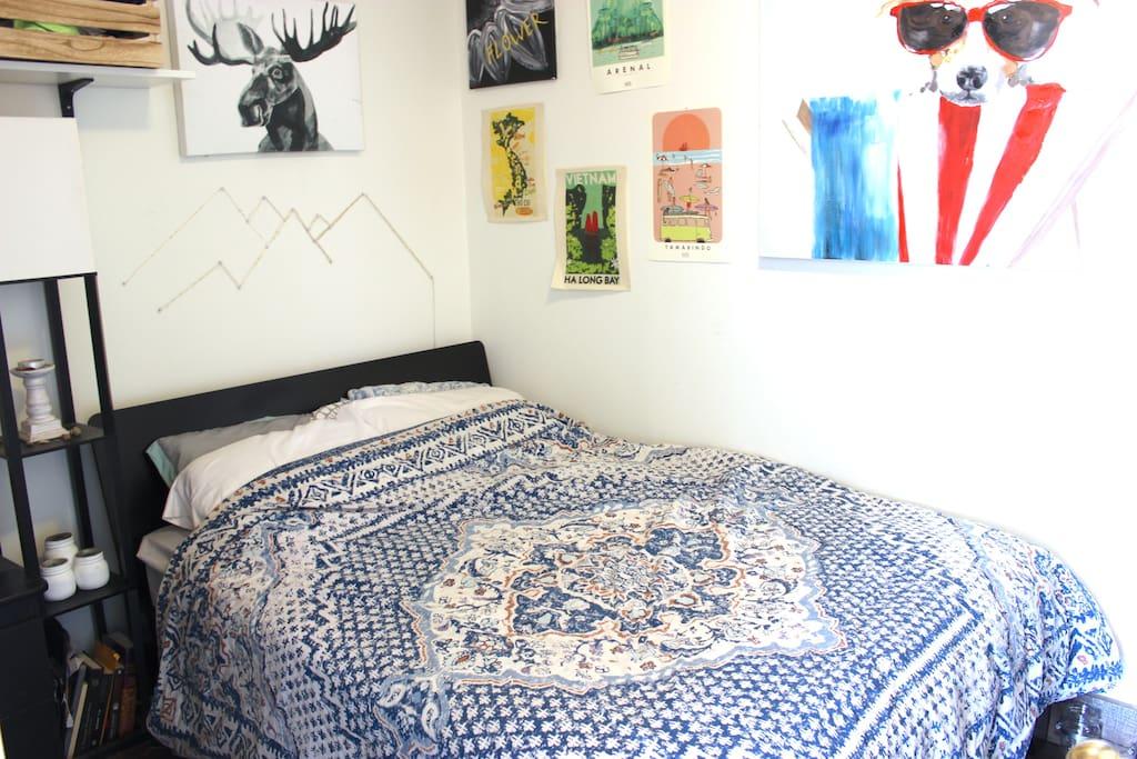 Where you'll be sleeping.