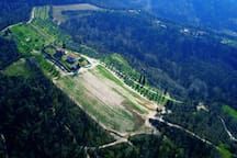 Our tenuta from the airplane!