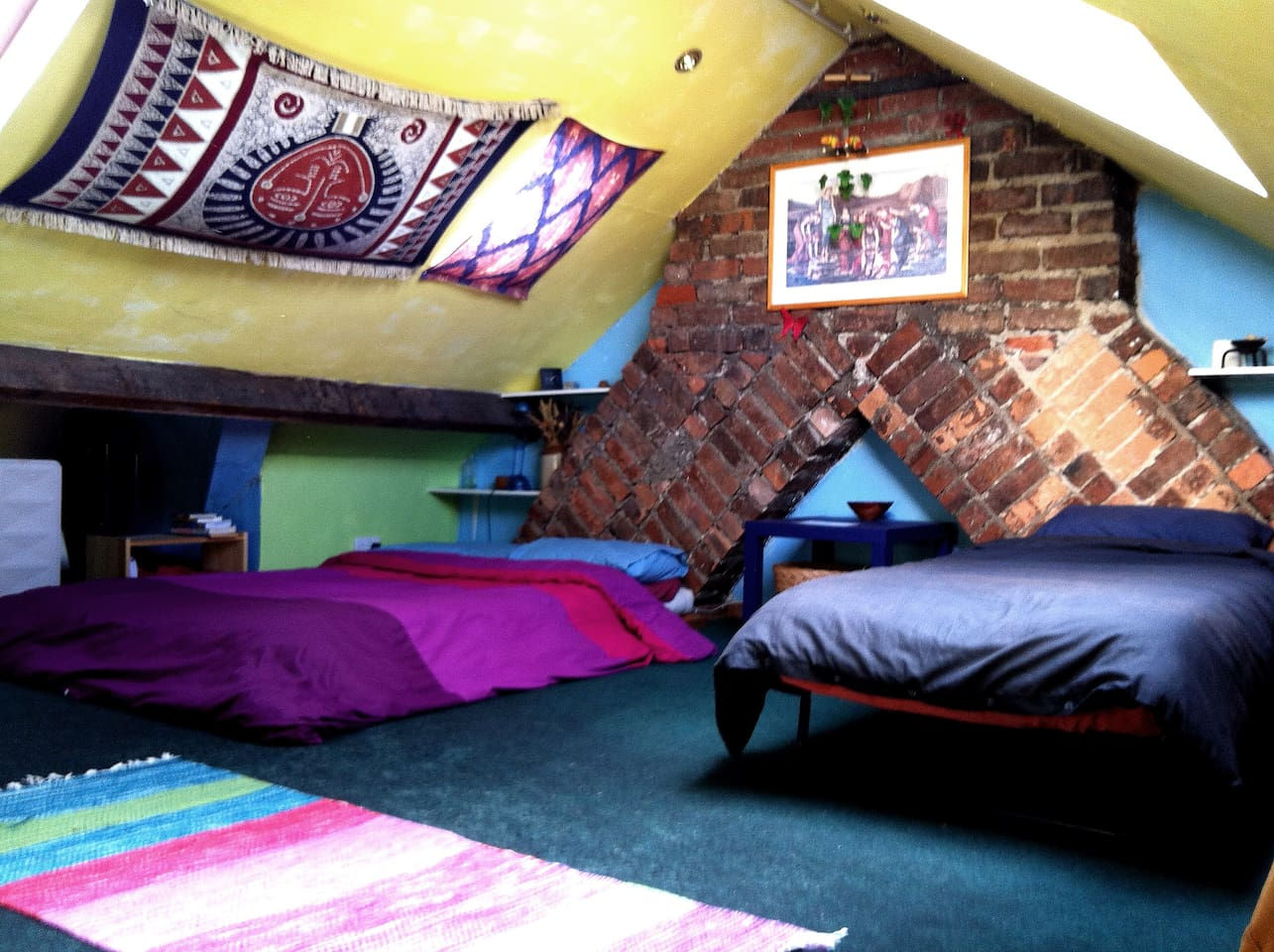 The attic room is bigger than it looks here!