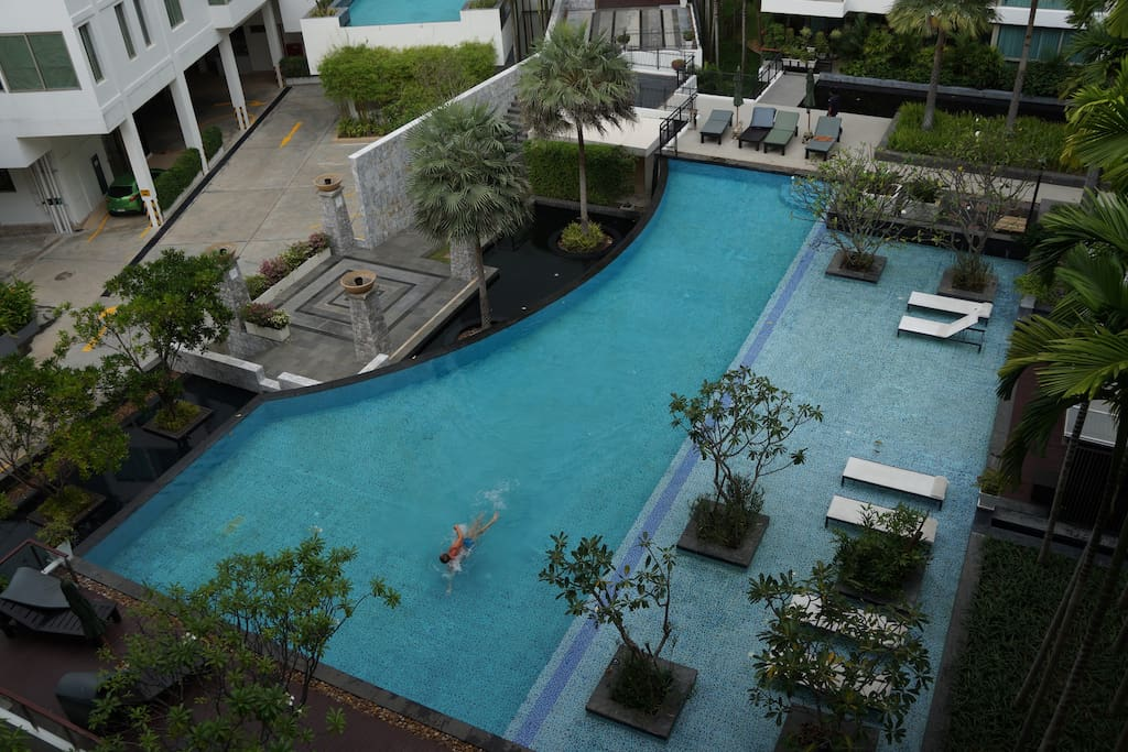 Pool from balcony