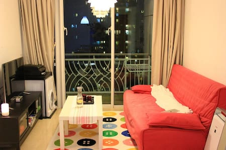 Close to MTR Lohas Park station bed size 120*190cm Clean, Comfortable, Convenient Excellent View from 50+ floor Safety, 24*7 security Quiet at night We live in the master room.