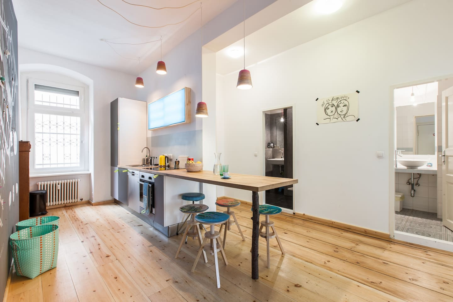 wide and open community kitchen