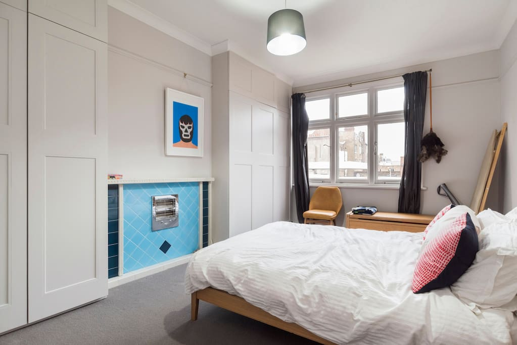 The second bedroom has a double bed and also a pull out bed on request.