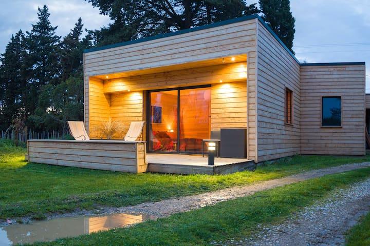 Chambre de charme, douceur du bois - Senas - Casa na Terra