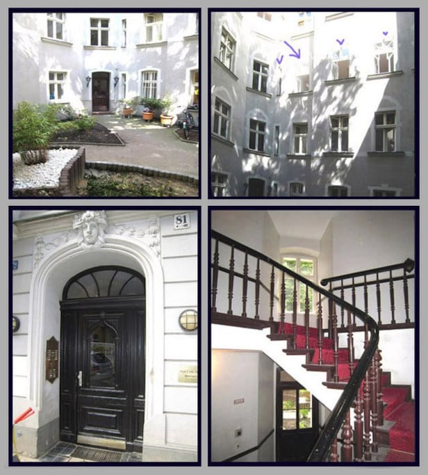 exterior/stairs/ courtyard
