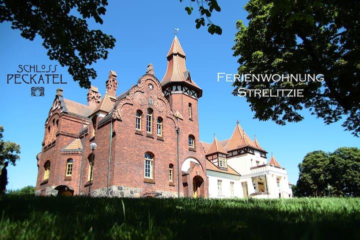 Schloss Peckatel am Müritz-Nationalpark Strelitzie