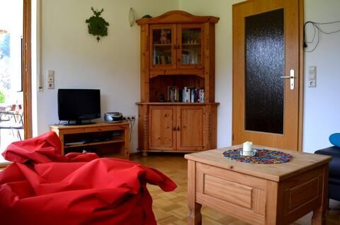 Wohnzimmer vom Sofa aus