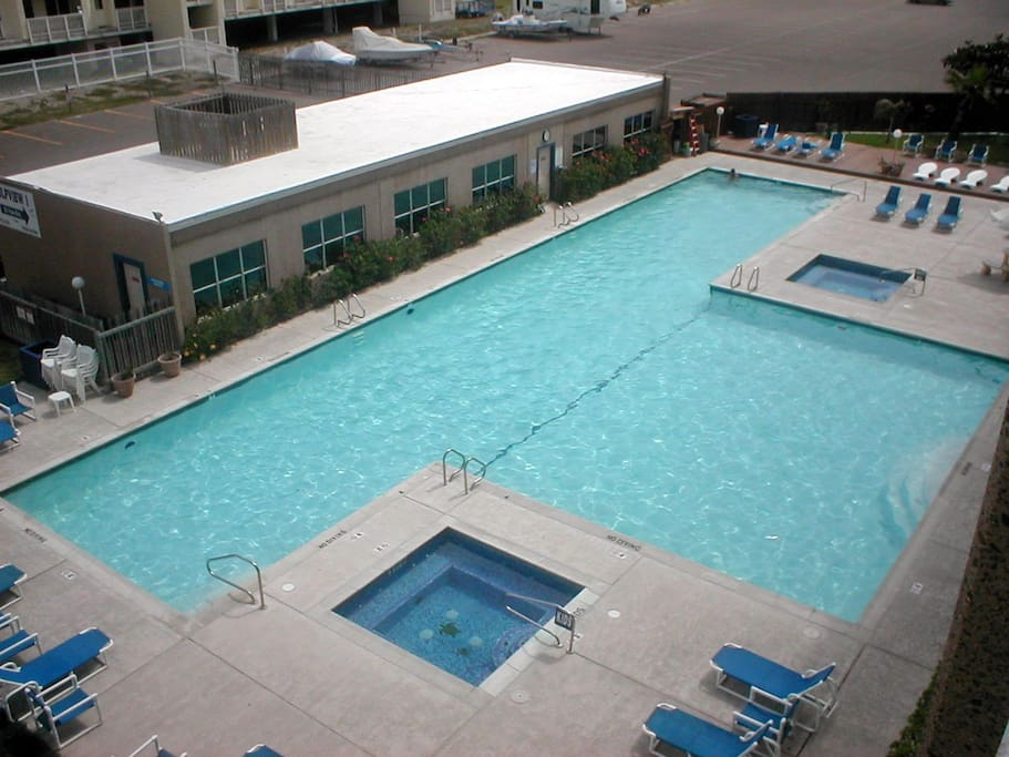 One of the largest swimming pool on the island.