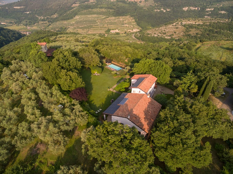 aerial view (from south) of Villa Beatrice