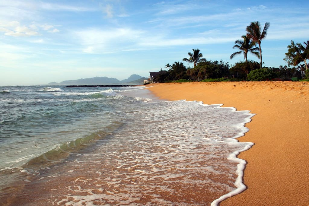 Waipouli Beach resort is just a few steps away from the condo