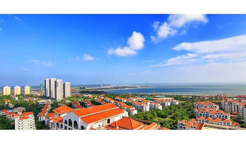 海南文昌适合一家人度假的一线海景房