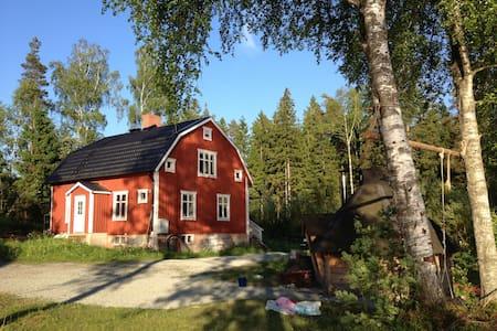 Ødegård ved stor sø i småland - Lammhult - Casa