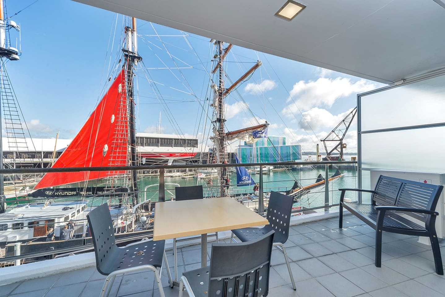 Absolute waterfront apartment  on first floor of Princes Wharf Shed 22
