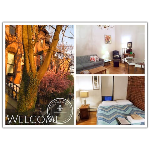 Cozy Boston Brownstone, Convenient Area, Easy MBTA