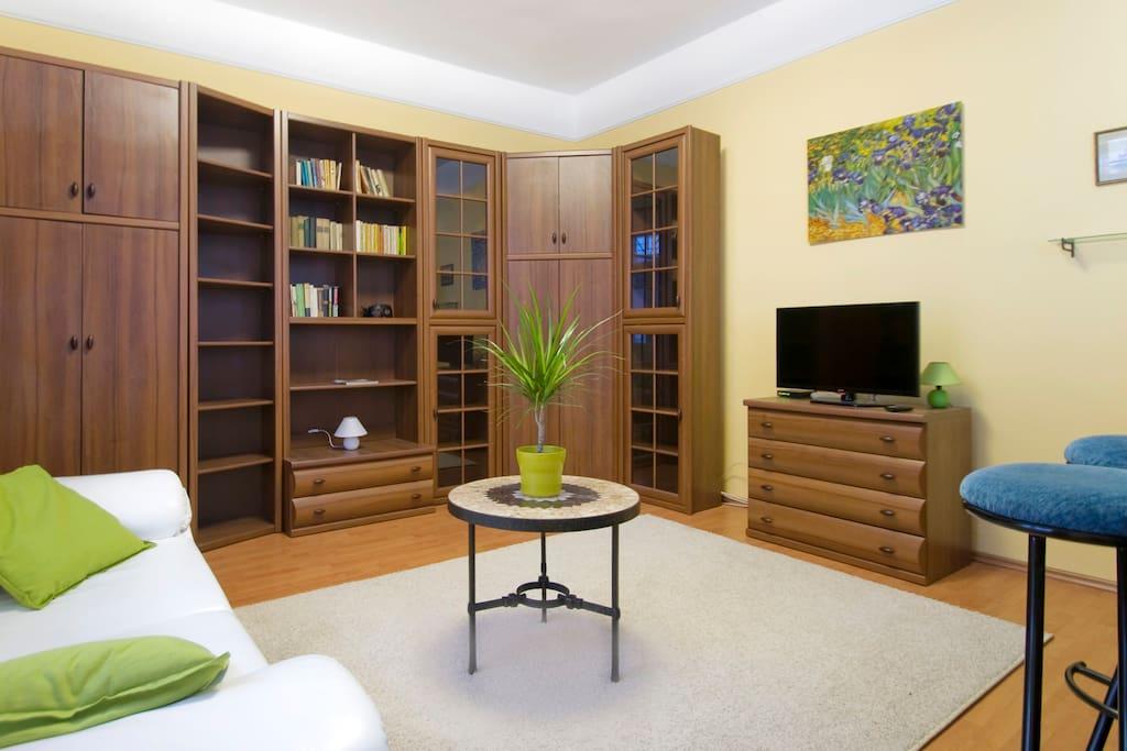 New furniture, TV