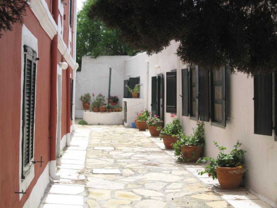A simple cosy room in Alinda, Leros