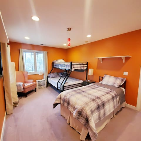 Bedroom 4 - (located on 2nd floor). Twin over Full bunk bed and separate twin bed.