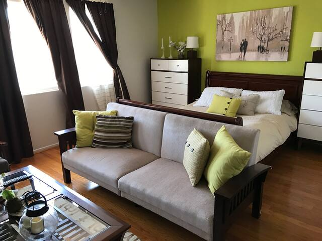 Beautiful big bedroom for 2-4guests, private bath
