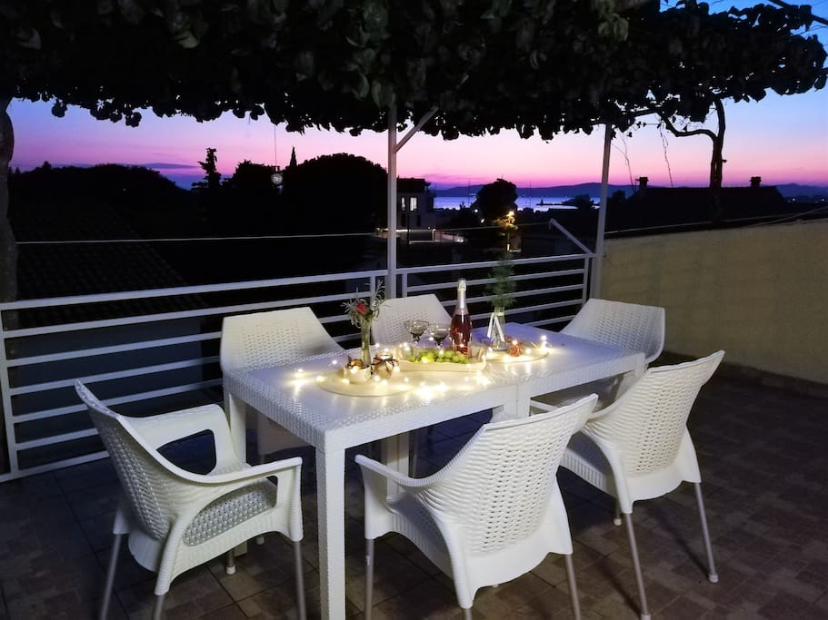 Sunset view at the terrace, perfect place for relaxed dinner