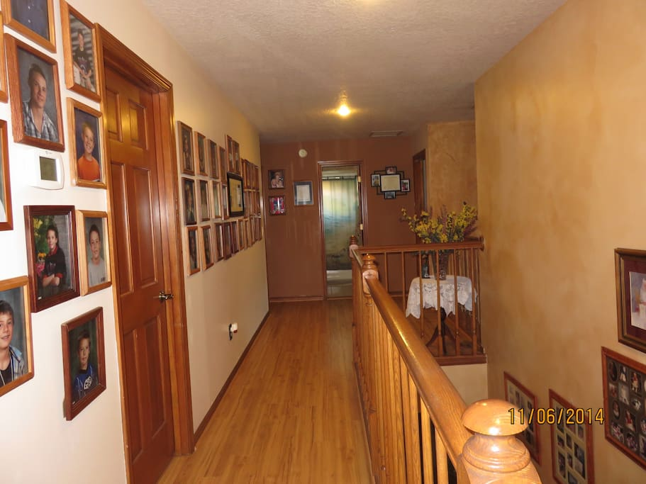 Upstairs Hallway to bedrooms.