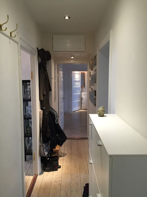 Entrance to the 133 sqm apartment