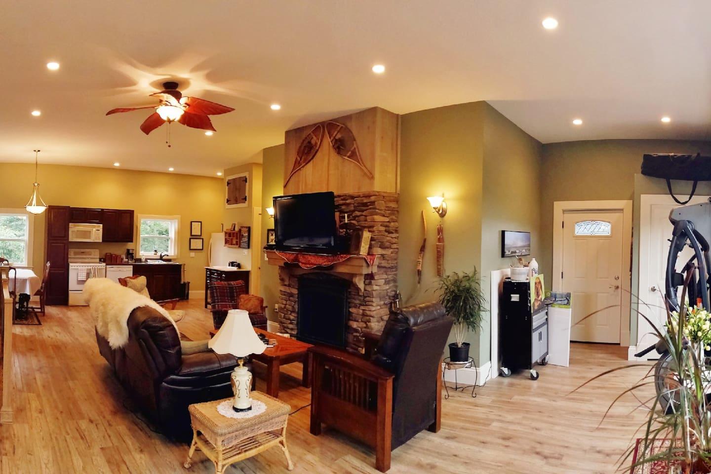 An open concept living space