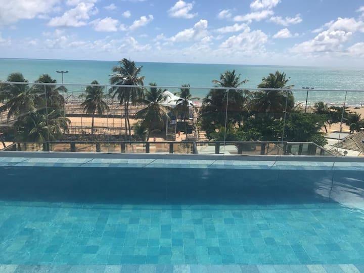 Apt 1qt 52m2 com vista para o mar de Cabo Branco