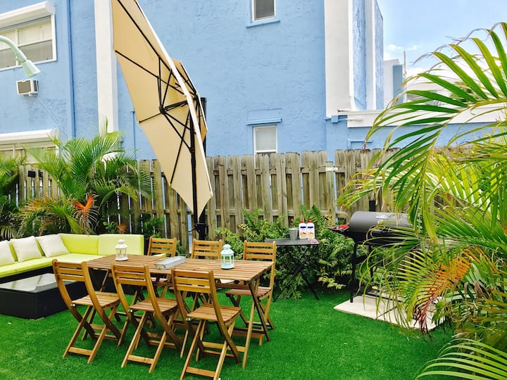 Hollywood Beach/private/parking/BBQ/wifi/HH-01