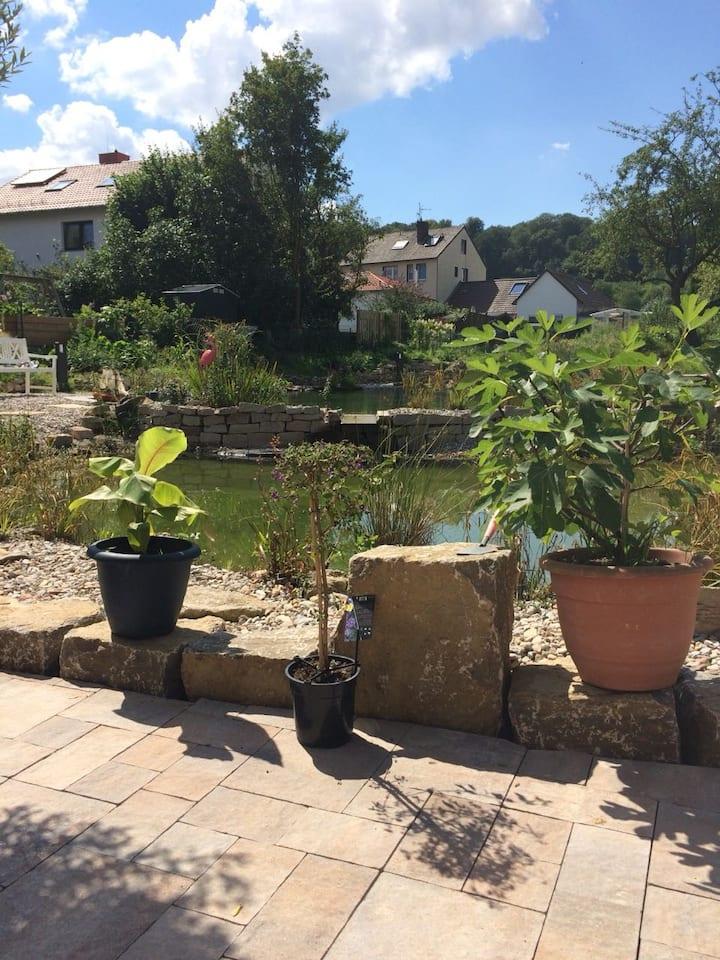 Ferienwohnung mit Wellnessgarten