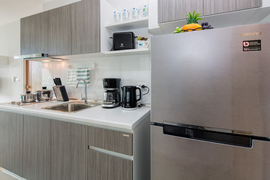 Fully equipped kitchen with everything you might need on your holidays!