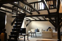 Apartment Riesling with Traditional Oak Beam Structure