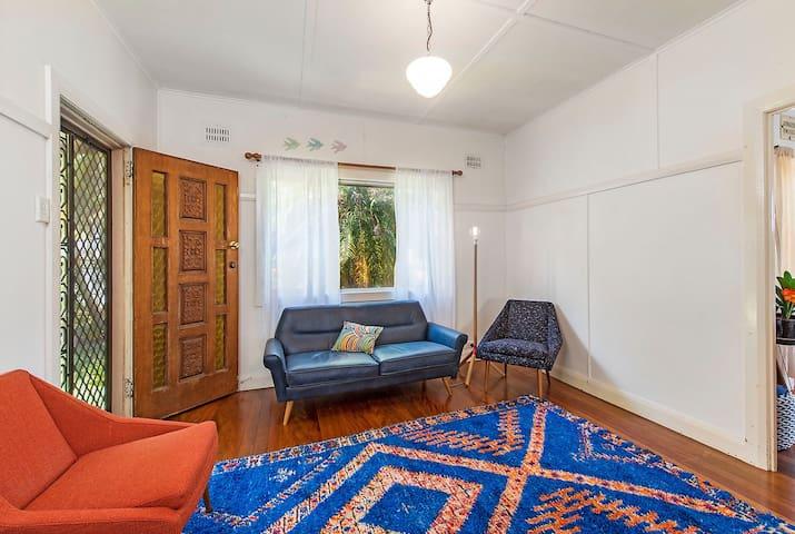 beautiful seating & vintage rug