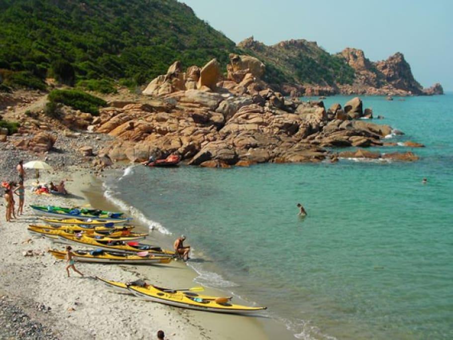 kayak tour available from Cardedu's beach