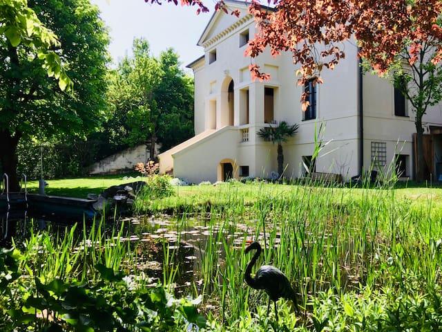 Zimmer Palladio umgeben von Weingärten