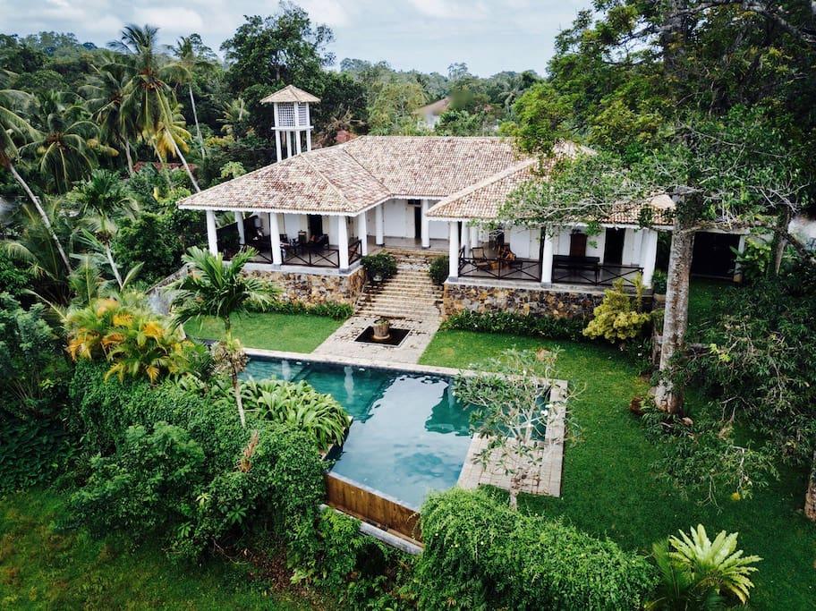 Drone view of Etamba House