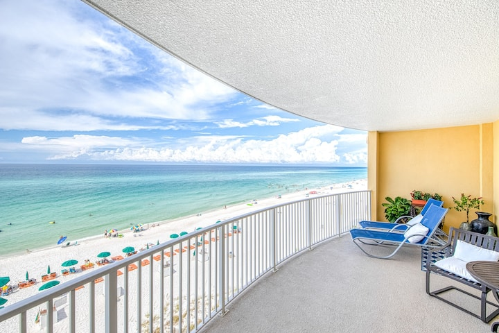 New listing! Beachfront rental with ocean views, resort pool, hot tub and grills