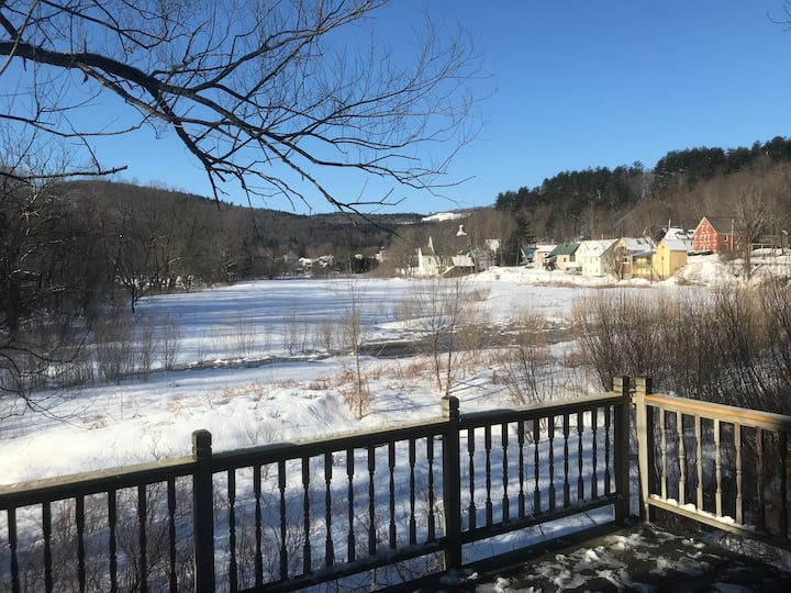 Okemo Mountain Area with River View