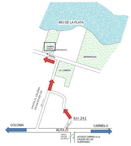 Mapa como llegar a la casa