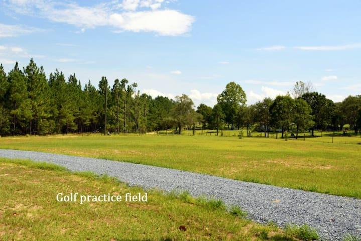 Park-like setting on a farm