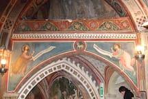 Particolare degli affreschi del Sacro Speco