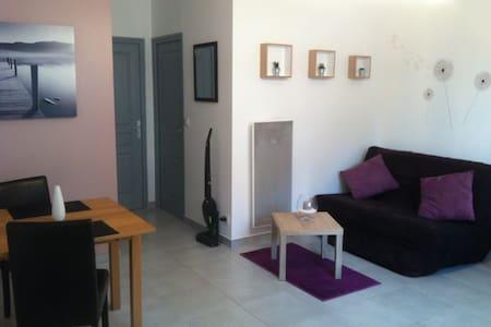 T2 cosy indépendant avec terrasse dans une villa