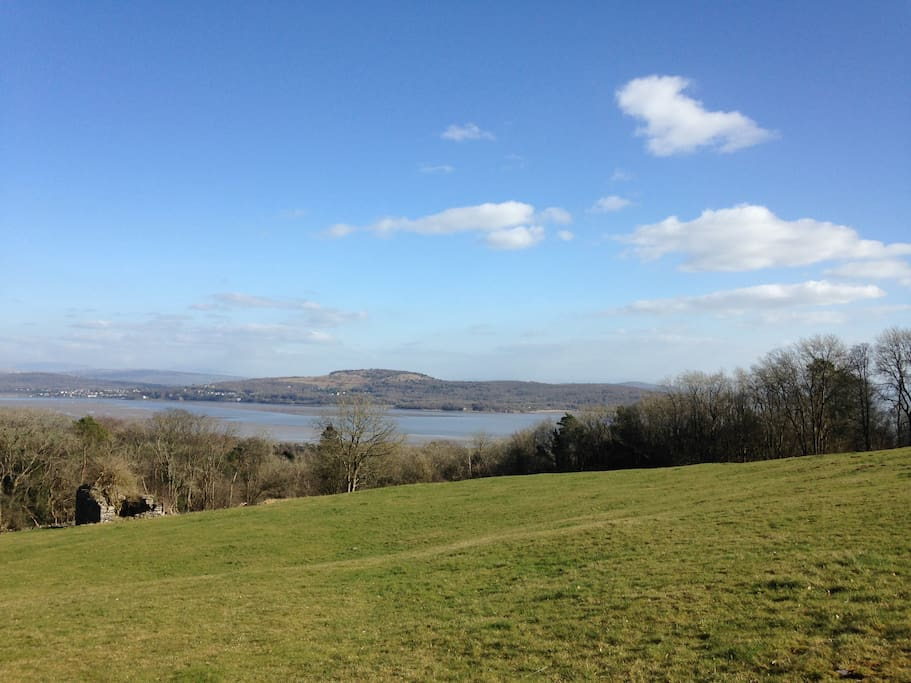 View from the field above Hazelwood Court