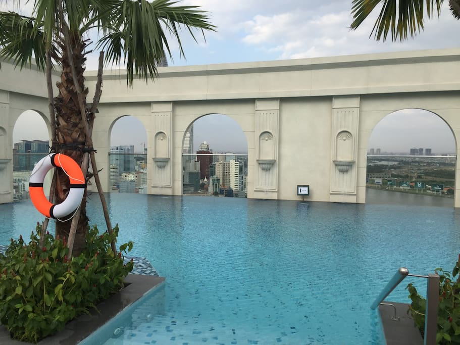 beautiful view from rooftop pool