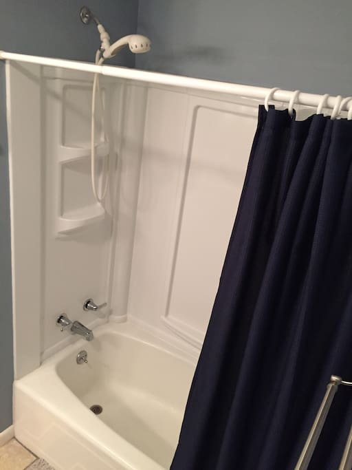your shower - plenty tall and great water pressure :)