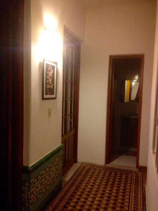 Door of the room with the toilet next door