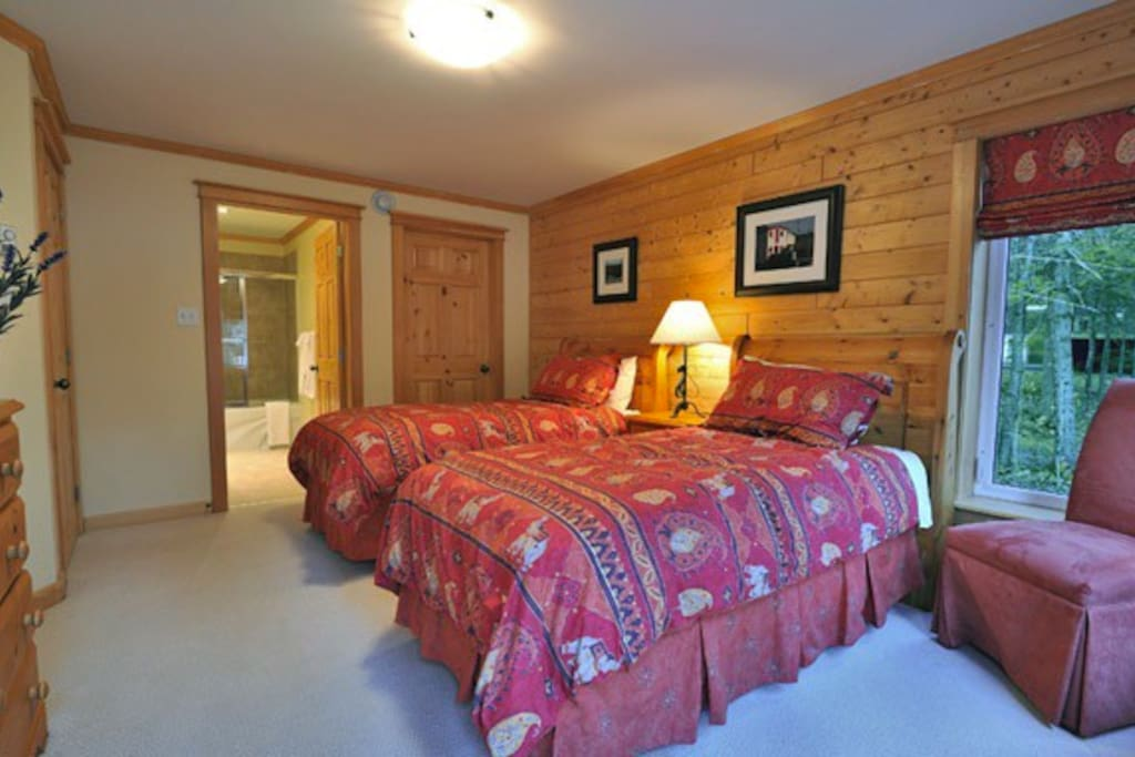 Spacious and comfortable twin beds for those who need their own space.