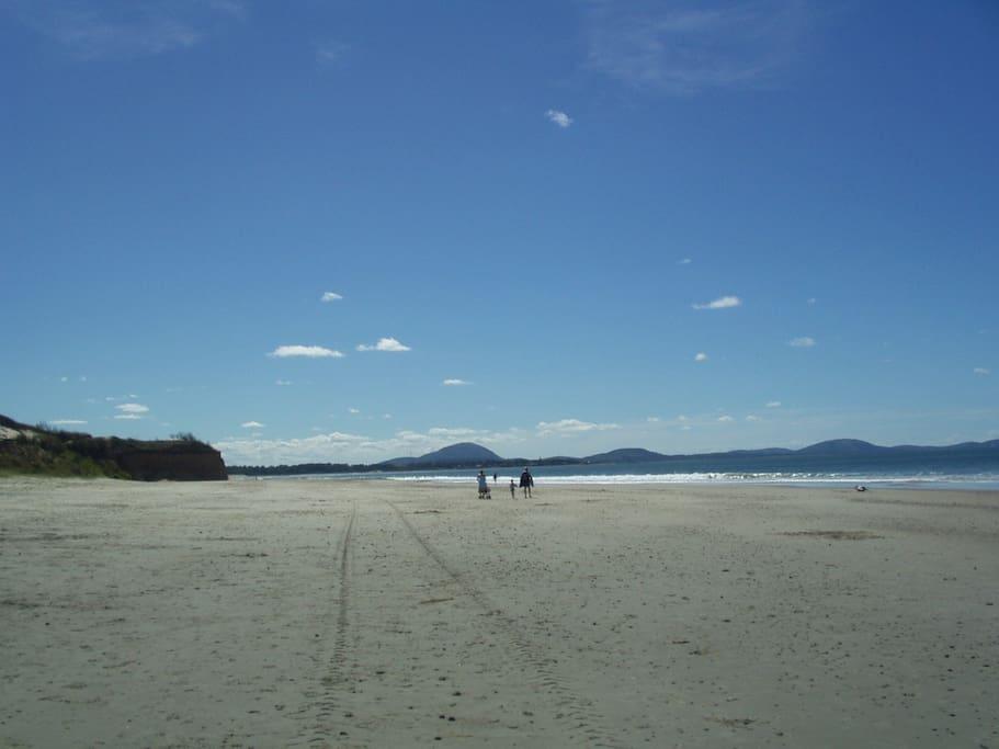 Vista playa hacia el Este (Piriápolis)